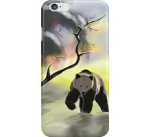 Bear in the snow iPhone Case/Skin