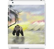 Bear in the snow iPad Case/Skin
