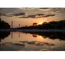 National Mall Sunset Photographic Print