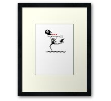Nothing to crow about Framed Print