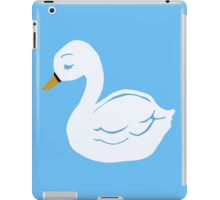 Swan Printmaking Art iPad Case/Skin