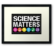 Science Matters Framed Print