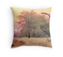 bushveld sunset Throw Pillow