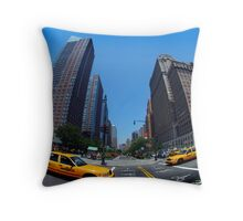 Fifth Avenue Taxi Throw Pillow