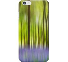 Running through the bluebell wood iPhone Case/Skin