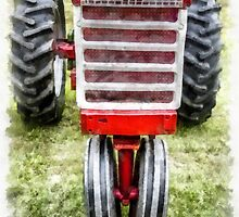 Vintage International Harvester Tractor by Edward Fielding