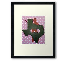 Cowgirl of Texas Framed Print