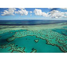 Heart Reef, Great Barrier Reef, Whitsundays Photographic Print