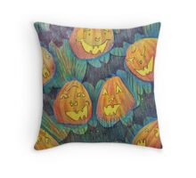 Jack o Lanterns Throw Pillow