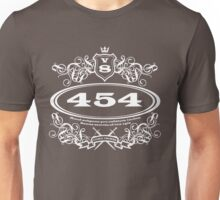 454 Cubic Inches... for the revhead intelligensia... Unisex T-Shirt