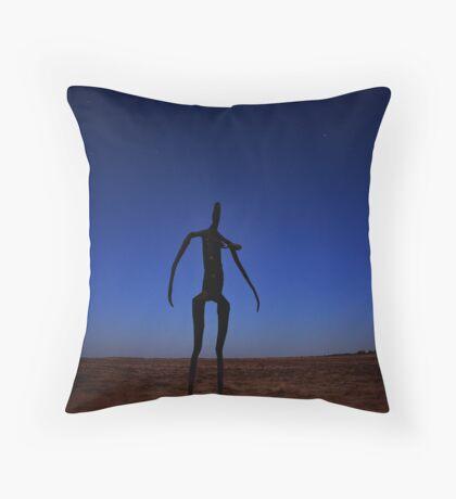 Lake Ballard Statue Throw Pillow