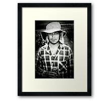 winery worker  Framed Print