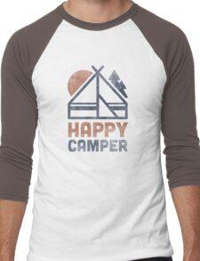 Happy Camper Men's Baseball ¾ T-Shirt