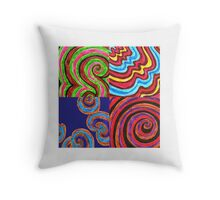 sixties compilation  Throw Pillow