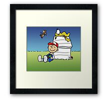 Charlie Brown Pokemon Master Framed Print