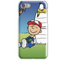 Charlie Brown Pokemon Master iPhone Case/Skin
