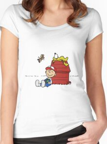 Charlie Brown Pokemon Master Women's Fitted Scoop T-Shirt