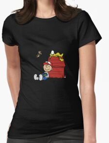 Charlie Brown Pokemon Master Womens Fitted T-Shirt