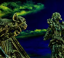 Vienna Gargoyles Fine Art Print by stockfineart