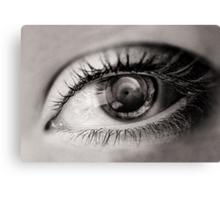 the eye as a lens Canvas Print