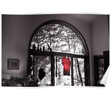 Red Shirt in an Arched Window Poster