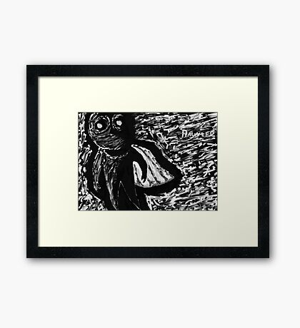 Dark Hero Framed Print