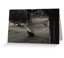 Empty Hammock Greeting Card