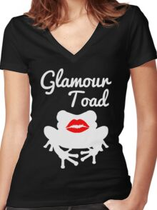 I'm a Glamour Toad. Women's Fitted V-Neck T-Shirt