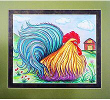 """""""Fancy The Rooster"""" Photographic Print"""