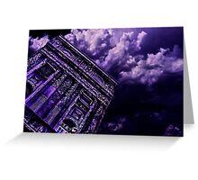 Purple Building Paris Fine Art Print Greeting Card