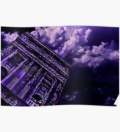 Purple Building Paris Fine Art Print Poster