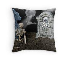 The Bone Yard Throw Pillow