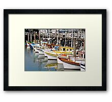 Colorful Tugs in a Row Framed Print