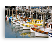 Colorful Tugs in a Row Canvas Print