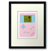 Represent - Game Boy Framed Print