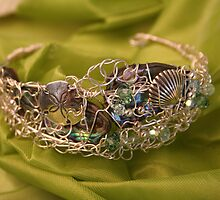 sterling silver shell cuff by Sherry Laird