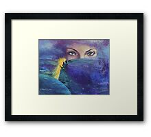 "...and the past it's just the beginning...from ""Impossible love"" series Framed Print"