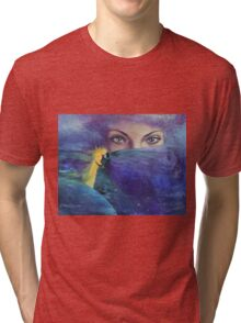 """...and the past it's just the beginning...from """"Impossible love"""" series Tri-blend T-Shirt"""