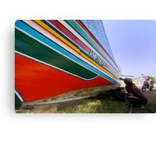 Boat painter - colors of rainbow Canvas Print