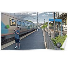 """Train Buffs"" - Acela Express by Kingston © 2009 AUG Poster"
