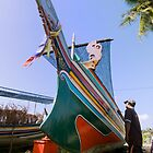 Boat painter - colors of rainbow by afby