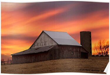 Old Barn at Sunset by Richard Skoropat