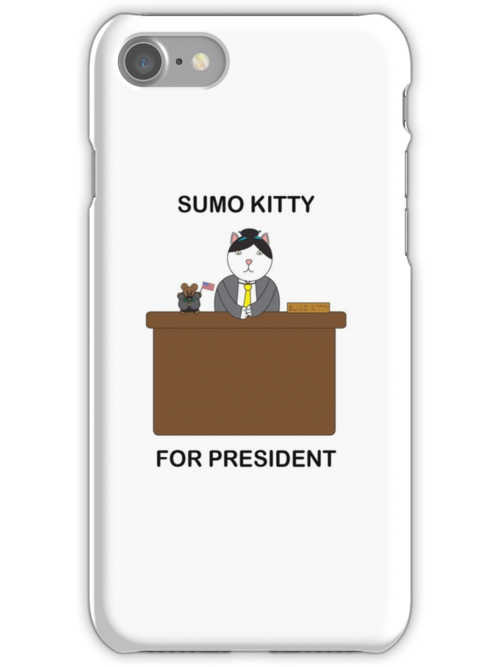 Sumo Kitty For President by ValeriesGallery