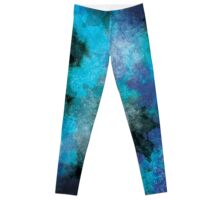 Aqua Blue Galaxy Leggings