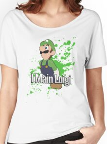 I Main Luigi - Super Smash Bros. Women's Relaxed Fit T-Shirt