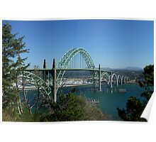 The Yaquina  Bay Bridge Poster