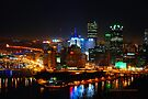 Pittsburgh Pennsylvania by night by PJS15204