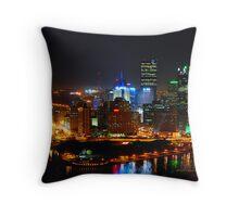 Pittsburgh Pennsylvania by night Throw Pillow