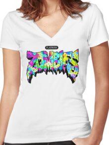 Flatbush ZOMBiES Logo Women's Fitted V-Neck T-Shirt