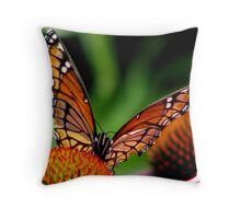 Monarch On Cones Throw Pillow